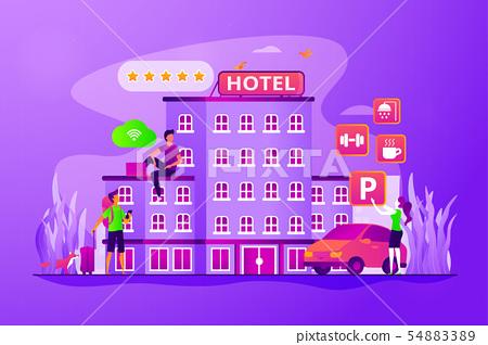 All-inclusive hotel concept vector illustration 54883389