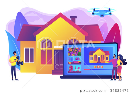 Real estate video tour concept vector illustration 54883472
