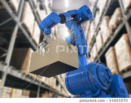 robotic arm in warehouse 54883870