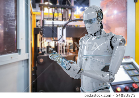 robot in factory 54883875