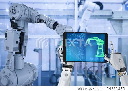 robot in factory 54883876