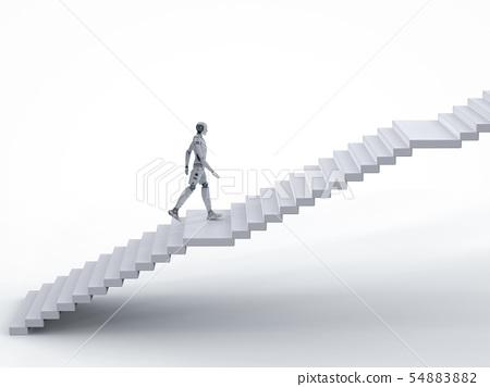 robot walk up stairs 54883882