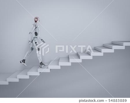 robot walk up stairs 54883889