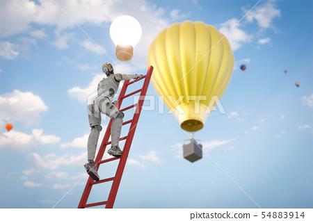 robot reach lightbulb 54883914