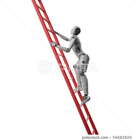 robot climb ladder 54883920