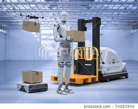 automatic machine in warehouse 54883950