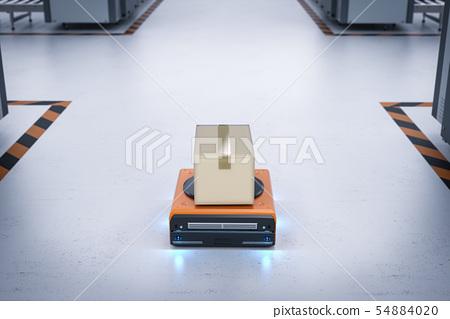 warehouse robot carry box 54884020