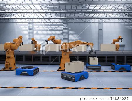 Automation factory concept 54884027