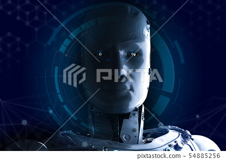 robot with hud 54885256