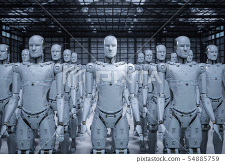 group of robots 54885759