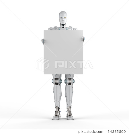 cyborg with empty note 54885800