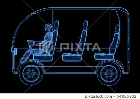 x ray robot driving mini bus 54885802
