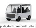 white mini van or shuttle bus 54885843