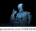 robot work on microscope 54885848