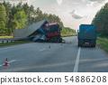 Rollover truck on autobahn 54886208