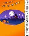 halloween jack-o-lantern haunted 54886453