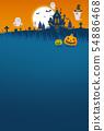 halloween jack-o-lantern backdrop 54886468