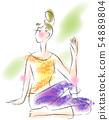 做瑜伽的一名婦女 54889804