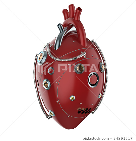 robotic heart isolated 54891517