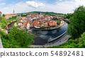 Panoramic of Cesky Krumlov city in Czech Republic 54892481