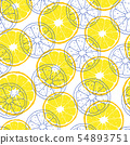 pattern with lemon slices 54893751