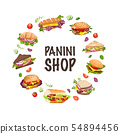 sandwiches and panini vector  illustration 54894456