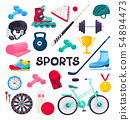 sport equipment collection 54894473