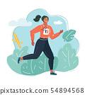 Young woman in sportswear run 54894568