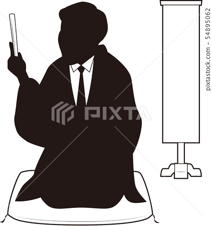silhouette, silhouettes, business man 54895062