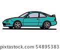 怀乡国内小轿车绿色汽车例证 54895383
