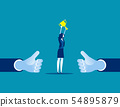 Manager showing thumb up. Concept business vector 54895879