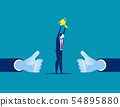 Manager showing thumb up. Concept business vector 54895880