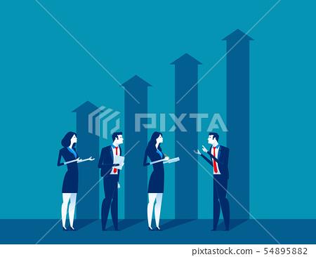 Business people and growth economic. Concept 54895882