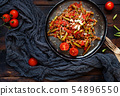 French beans with tomato 54896550