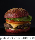 fast food on a black background 54896939