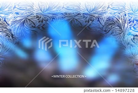 Hello winter lettering 54897228