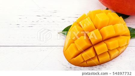 新鮮芒果塊芒果切芒果 54897732