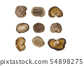 dried Shitake mushroom isolated on white 54898275
