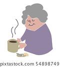 커피를 가진 여자 54898749