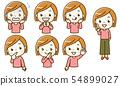 女性的面部表情集 54899027