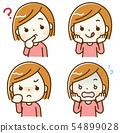女性的面部表情集 54899028