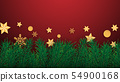 Merry Christmas and Happy new year greeting card 54900168