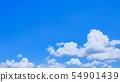 초여름의 상쾌한 푸른 하늘 54901439