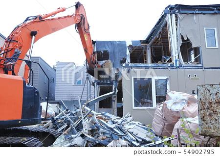 Housing demolition work 54902795