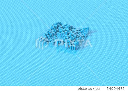 城市規劃,網格上方的城市形象 54904473