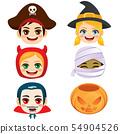 Cute halloween kids faces 54904526