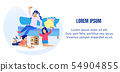 Kids Playing Wooden Risk Block Game Text Banner 54904855