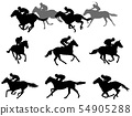 race horses and jockeys silhouettes collection 54905288