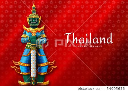 thailand art Thai Temple Guardian Giant 54905636