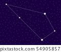 Sculptor constellation. Starry night sky. Zodiac 54905857